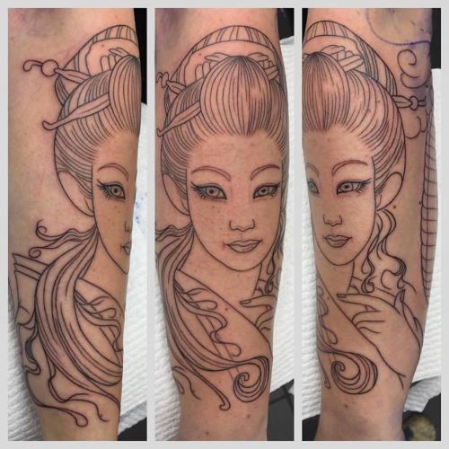 Work in Progress – Geisha & Paper Lanterns