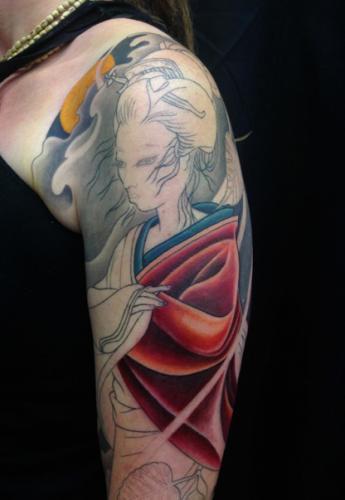 Work in progress – Geisha full sleeve