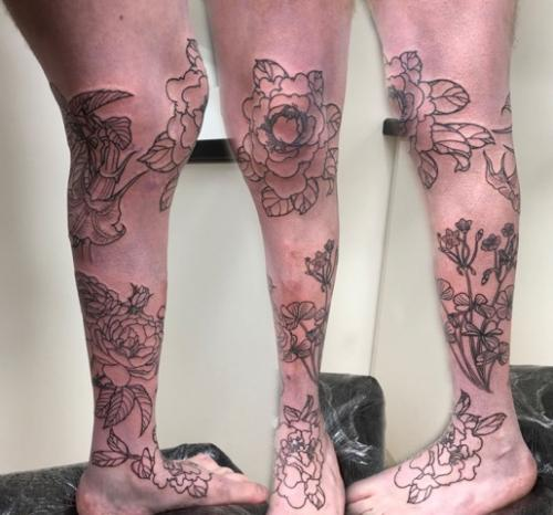 Work in Progress – Flower Leg Sleeve Sequence